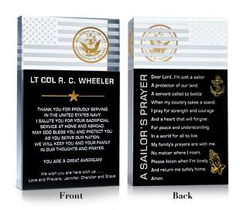 Navy Prayer Plaque