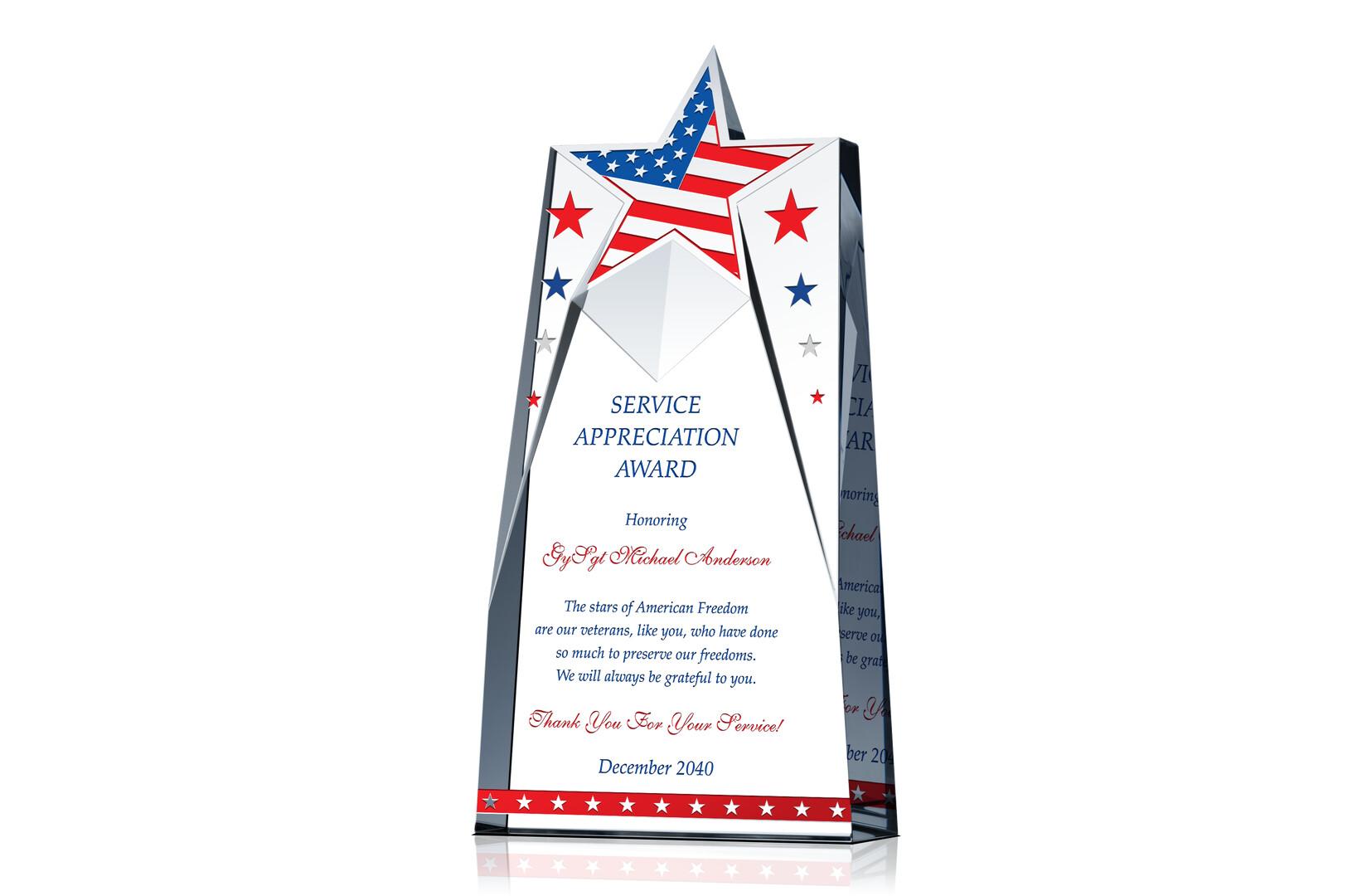 Patriotic Appreciation Gift Plaques