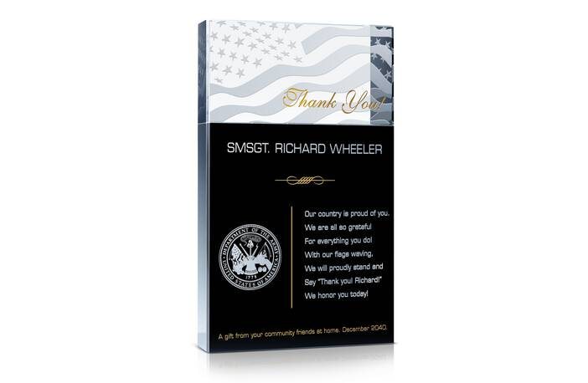 Military Appreciation Gift Plaques