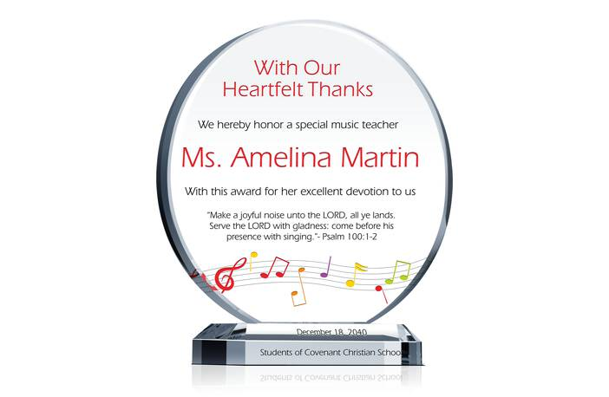 Special Music Teacher Appreciation
