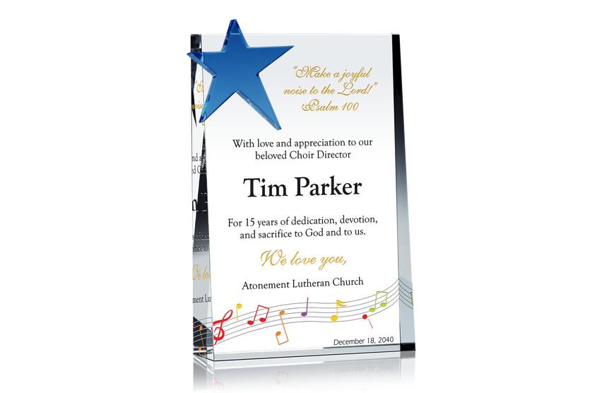Religious Choir Director Retirement Gift