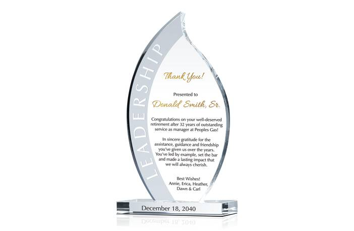 Leadership Retirement Gift Plaque