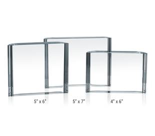 Curved Crystal Plaques