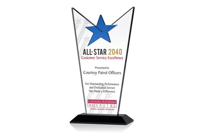 Crystal All Star Employee Recognition Award