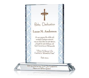 Baby Dedication Plaque