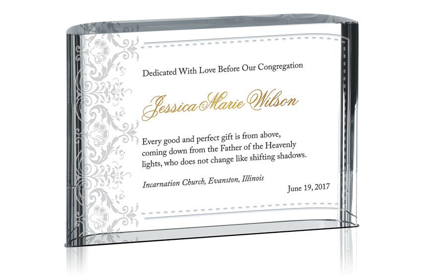 Dedication Certificate for Girls