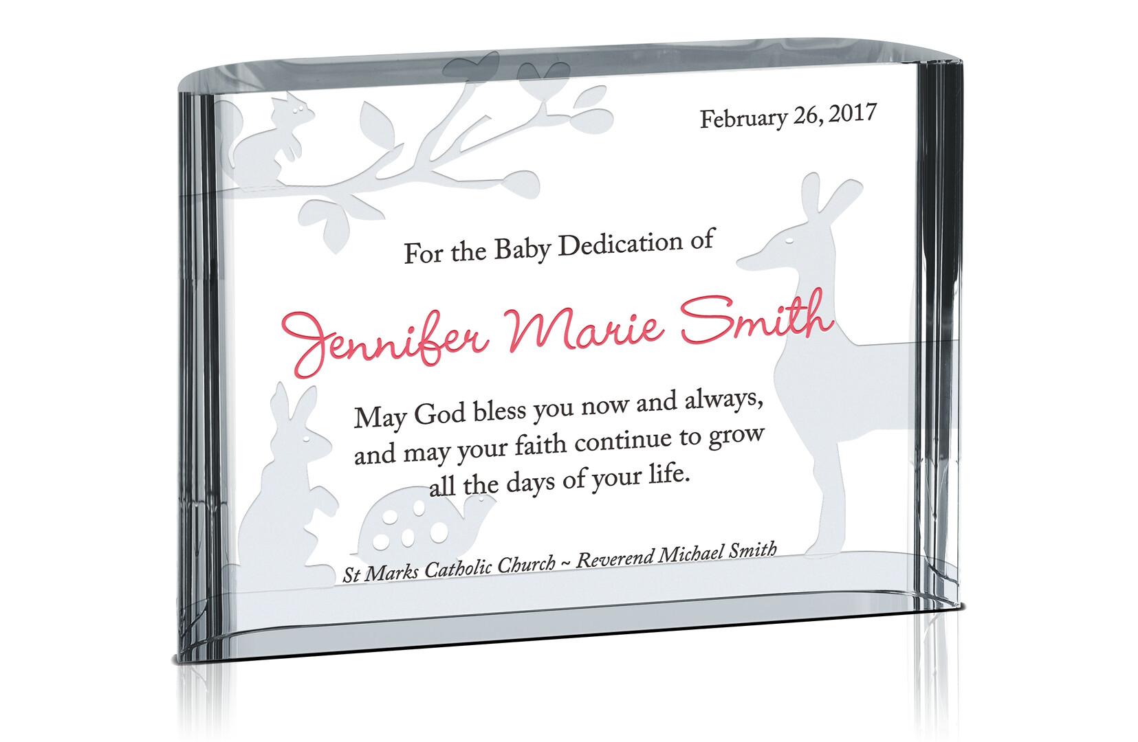 Blessings on Dedication Gift