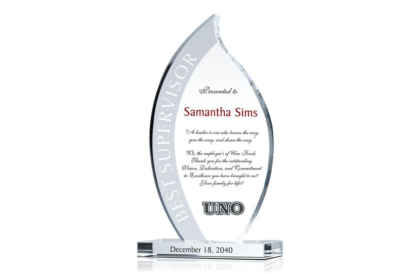 Sample Supervisor of the Year Award