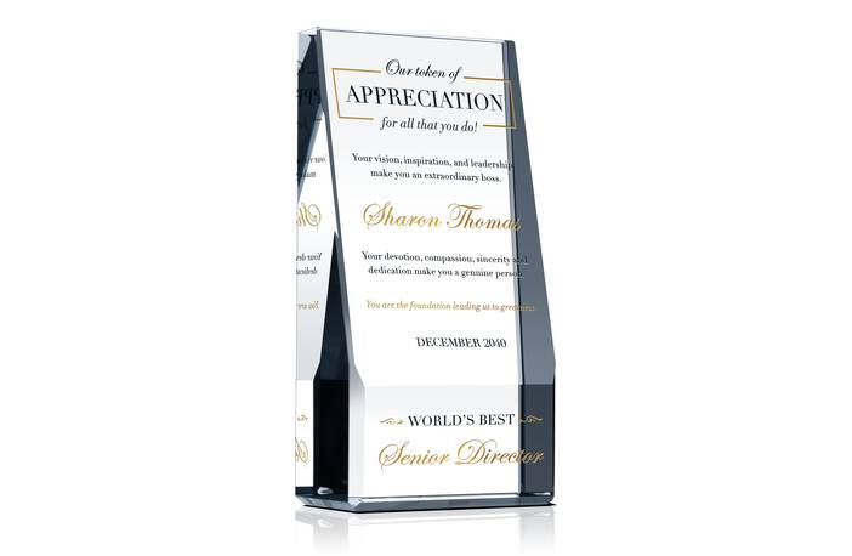 Excellent Leadership Recognition Plaque
