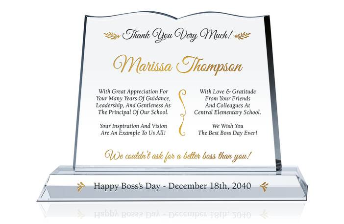 Thank You Boss Day Plaque Idea