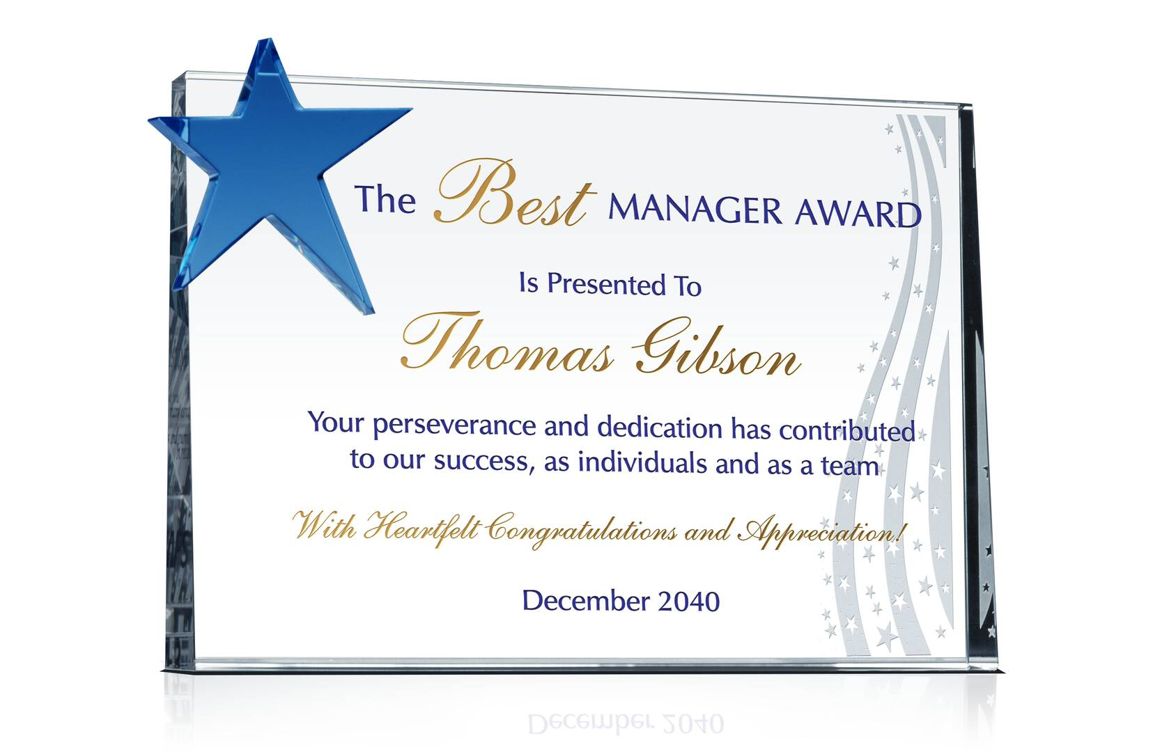 Supervisor Recognition Plaque