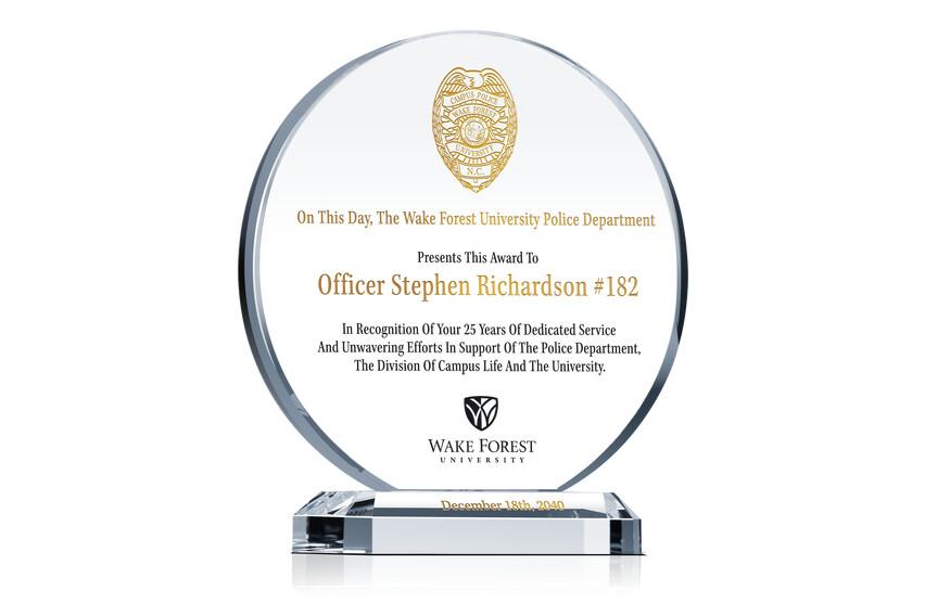 Campus Police Appreciation Gift