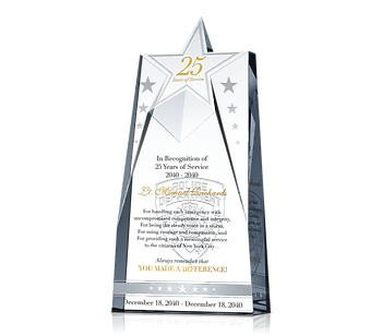 Police Service Award Plaque