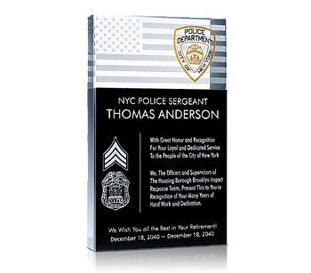 Police Retirement Plaque