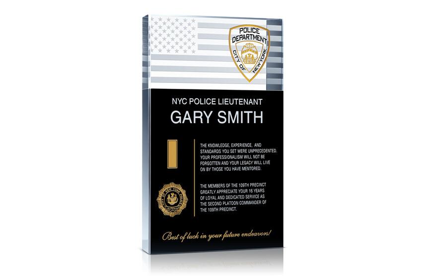 Police Lieutenant Retirement Gift