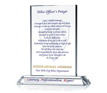 Policeman's Prayer Plaque