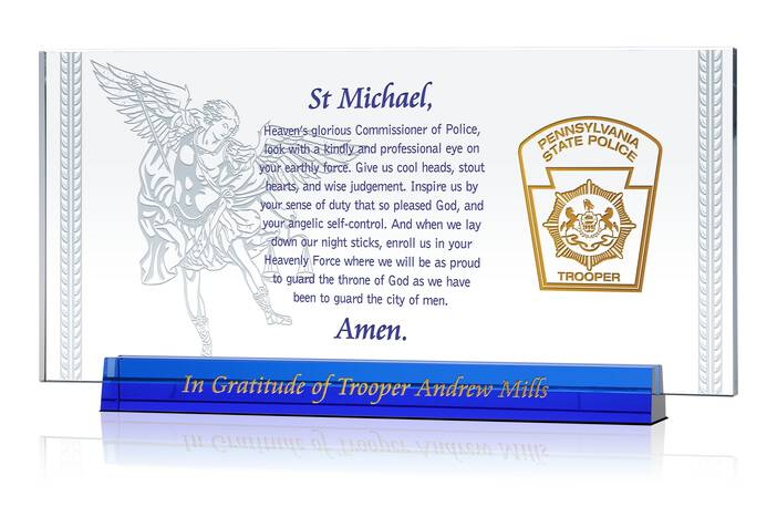 St Michael Police Gift Plaque