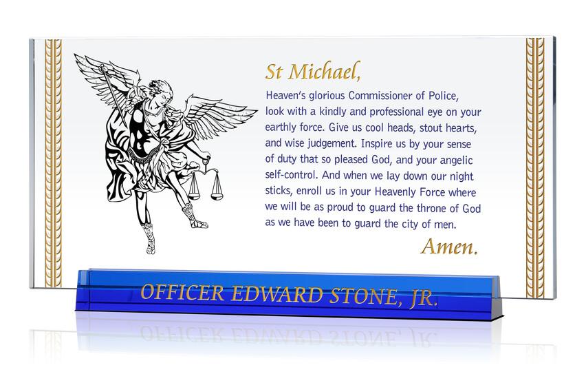 St Michael Policeman's Prayer Plaque