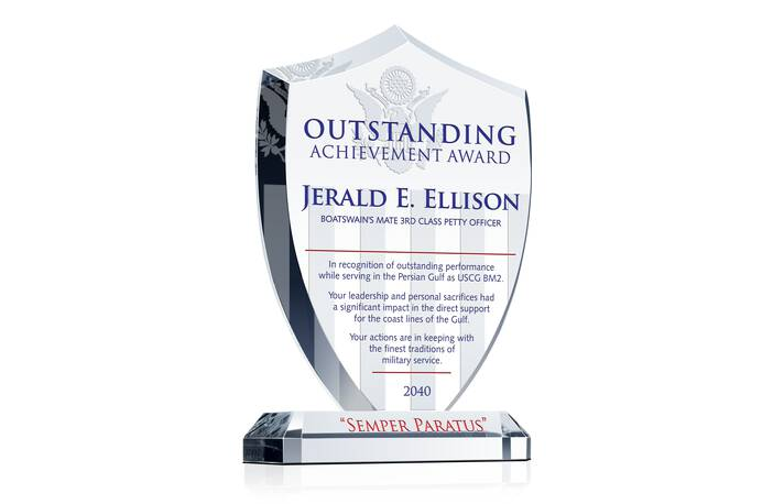 Shield Recognition Plaque