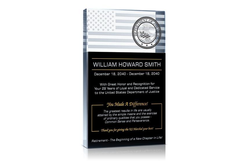 Gift for Retiring US Marshals