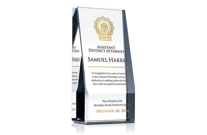 District Attorney Recognition Award