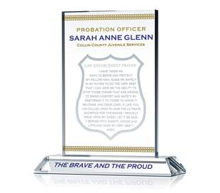 Law Enforcement Prayer Plaque