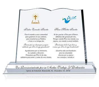 Placa para Pastor y Esposa