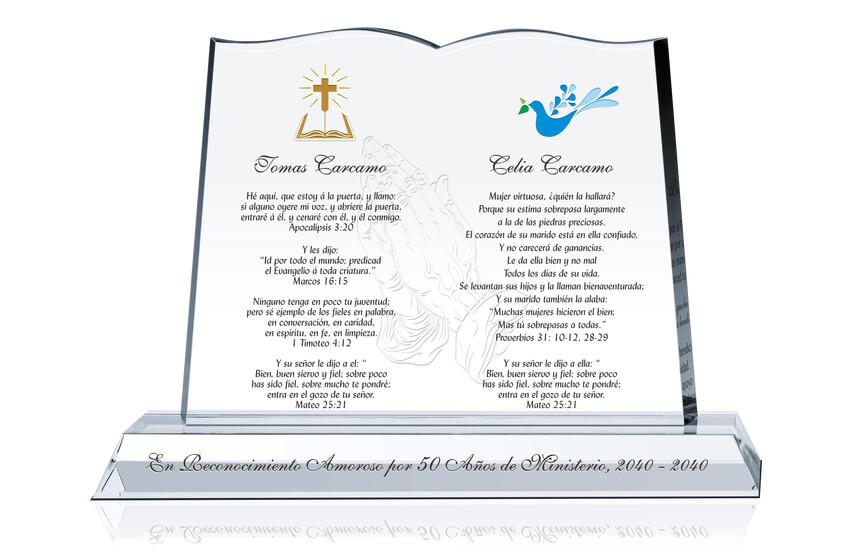 Biblia de Cristal Para Pastor Y Esposa
