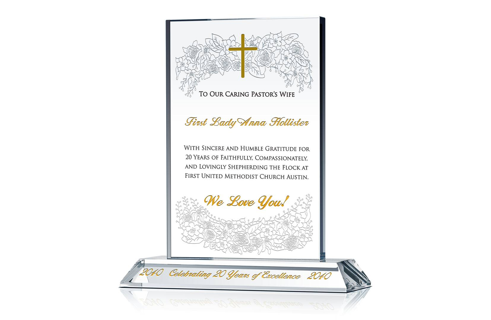 Pastor Wife Christmas Gift Plaque