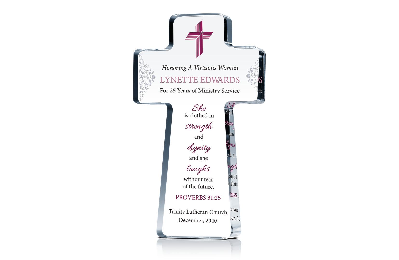 Pastors Wife Anniversary Cross
