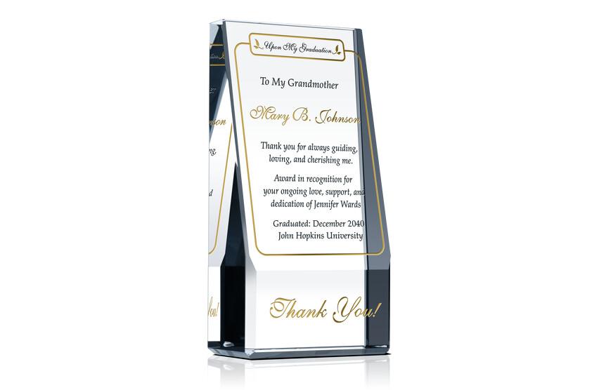 Graduation Appreciation Plaque for Parents