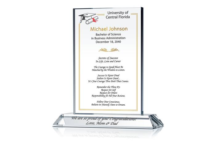 College Graduation Gift Plaque