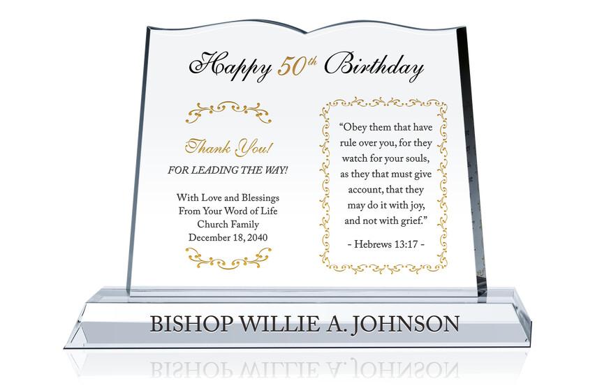 50th Birthday Gift for Pastor