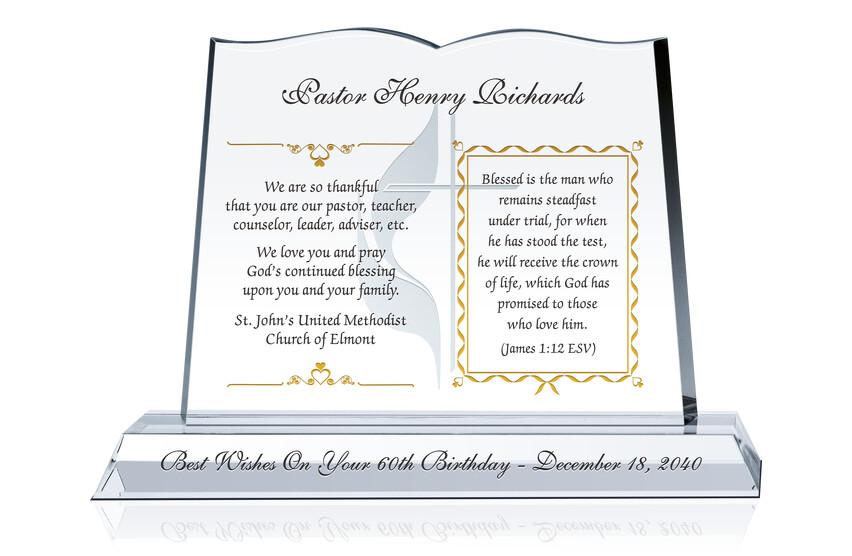 60th Birthday Gift for Pastor