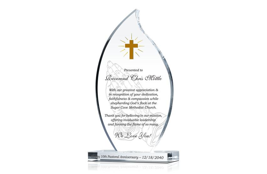 Pastor 10th Anniversary Appreciation Gift Plaque