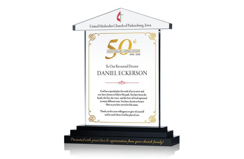 50th Anniv. Appreciation Plaque for Priest