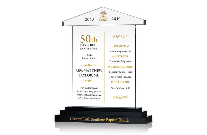 Pastor 50th Anniversary Sample Verse
