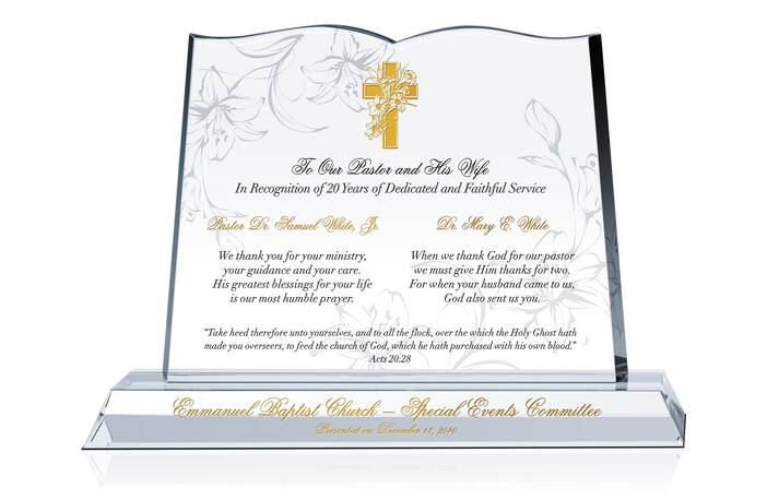 Sample Pastor and Wife Anniversary Gift Wording Ideas