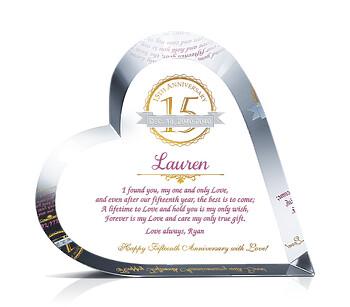 Crystal Heart 15th Anniv Gift