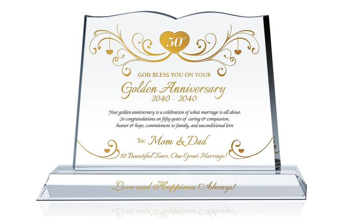 Golden Anniversary Gift for Parents