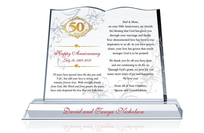 50th Wedding Anniversary Quote and Wishes for Parents