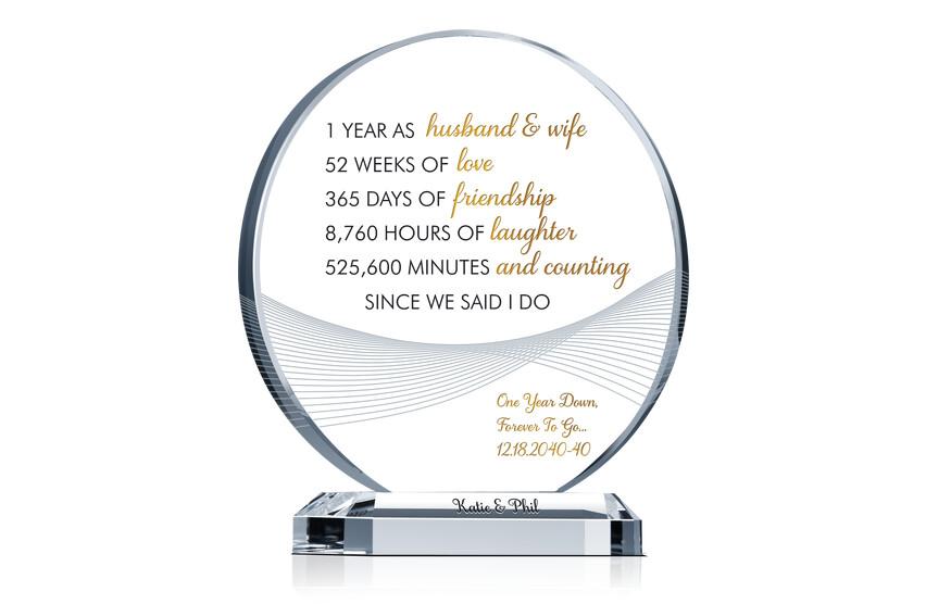 1 Year Anniversary Gift for Husband