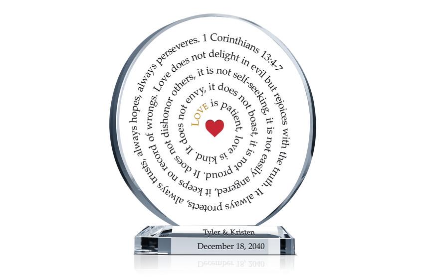 1 Corinthians Wedding Anniversary Gift