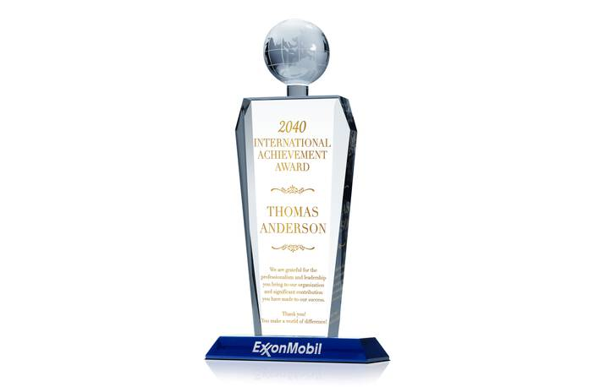 International Achievement Award Plaque