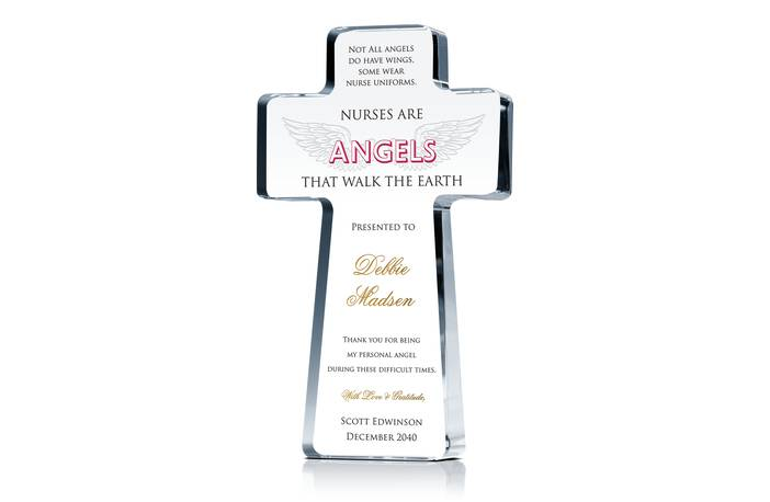 Angel Wings Nurse Appreciation Cross
