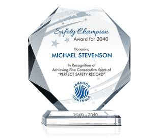 Octagon Safety Award Plaques