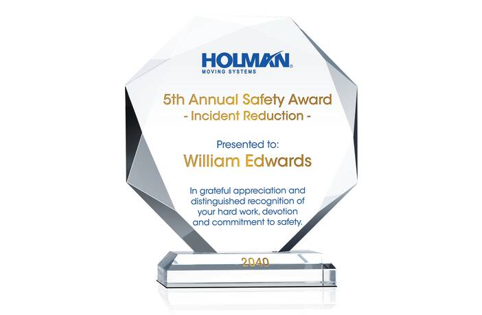 Annual Safety Recognition Award