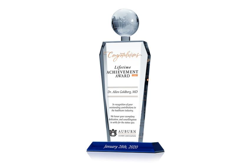 Custom Crystal Healthcare Industry Lifetime Achievement Awards