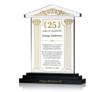 Lawyer Retirement Gift Plaque