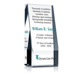 Wedge Lawyer Retirement Award Plaque
